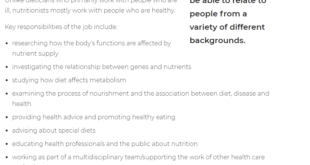 Starting Salary Of Nutritionist In Pakistan